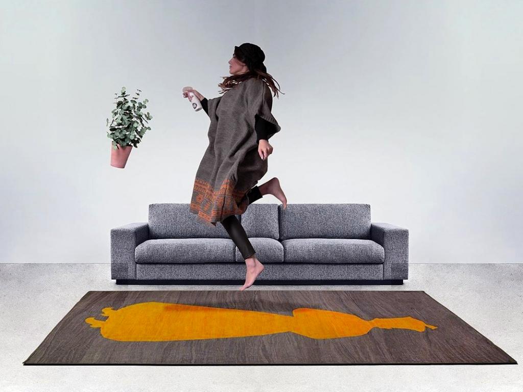 tapis iranien fait à la main