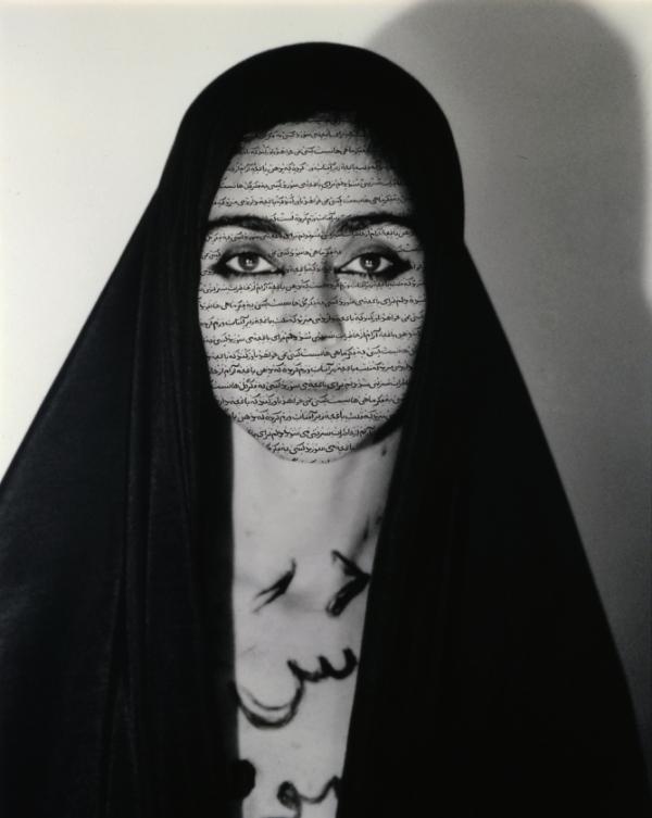calligraphie persane utilisée comme symbole de la société traditionnelle