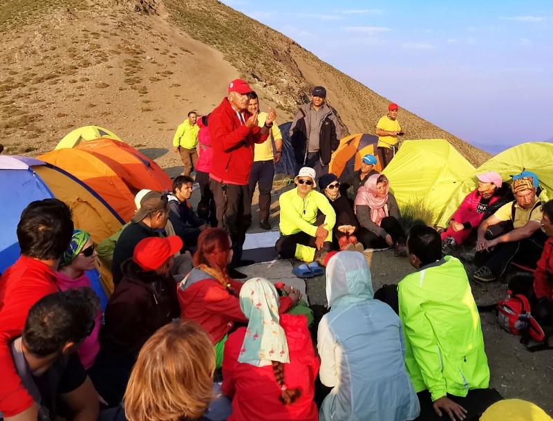 Les alpinistes iraniens